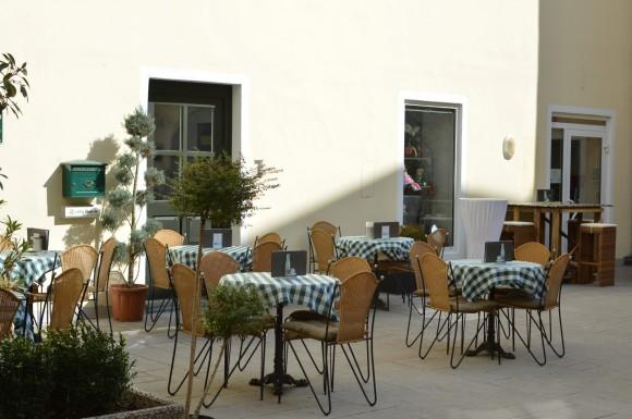 Terraza del Cafe Bellini en Villach