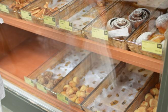 Dulces típicos de Gyor. Compramos el que parece una ensaimada, riquísimo