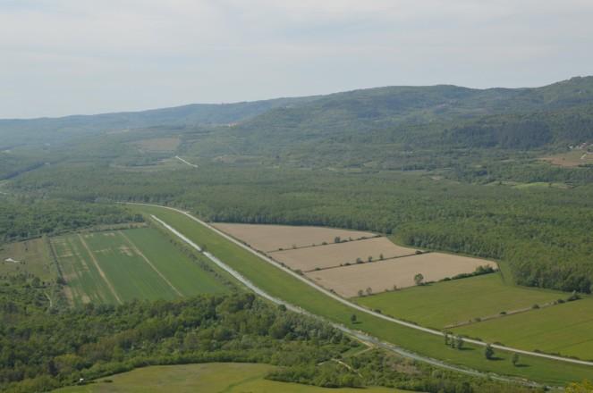 Las vistas del valle desde Motovun