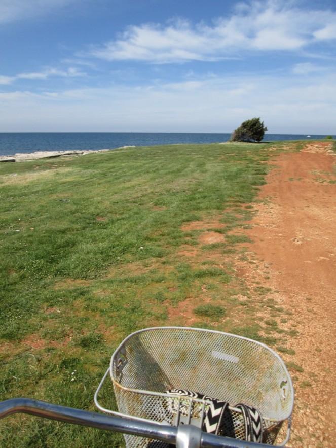 Bicicleando por la costa de Umag