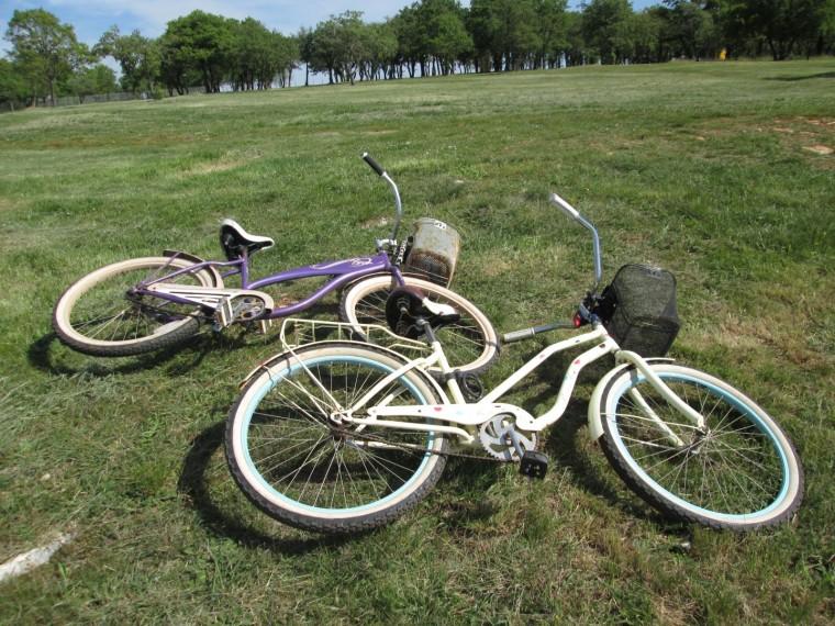 Nuestras bicicletas chupiguays en Umag