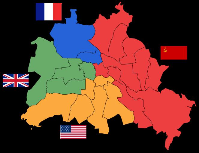 Berlin dividida en sectores