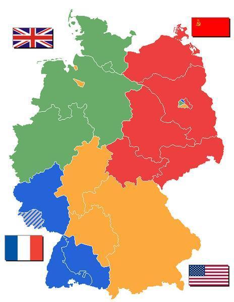 División de Alemania después de la Segunda Guerra Mundial