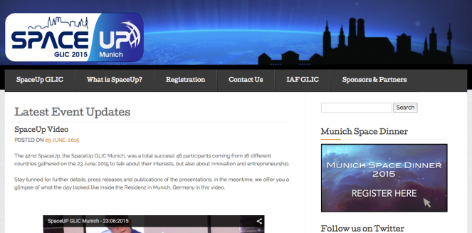 SpaceUp website